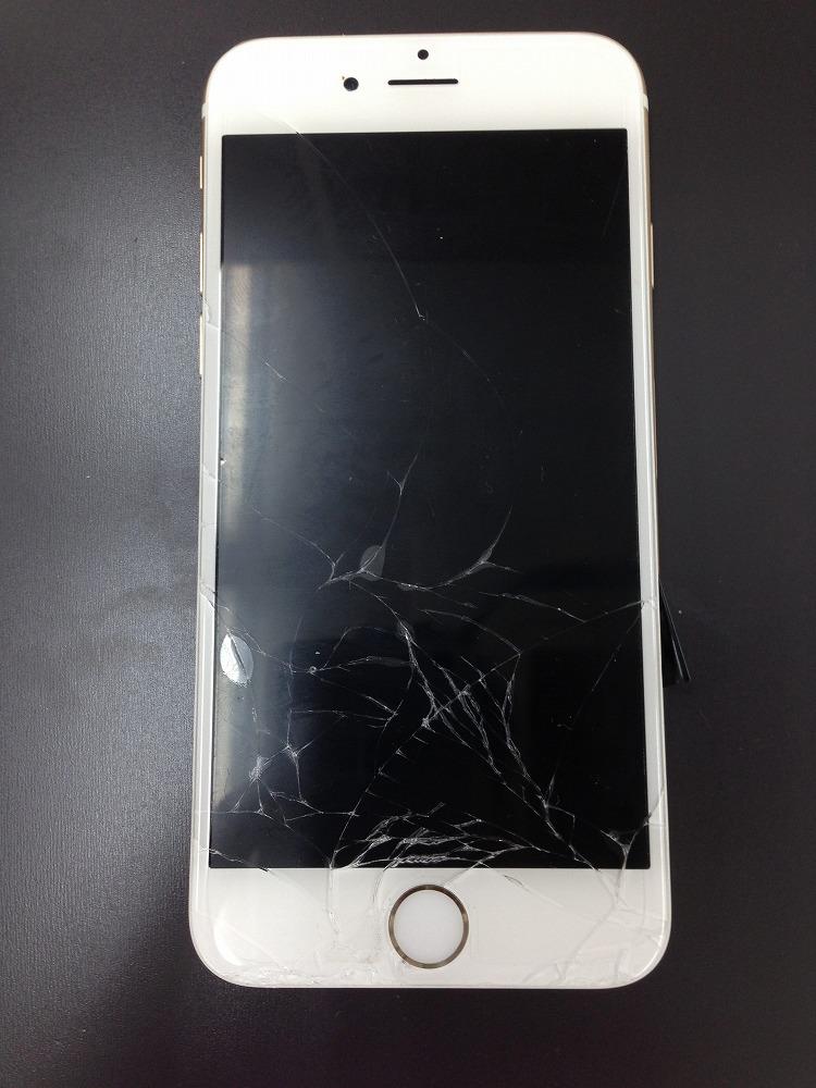 iPhone6のガラス+液晶交換修理 前 写真