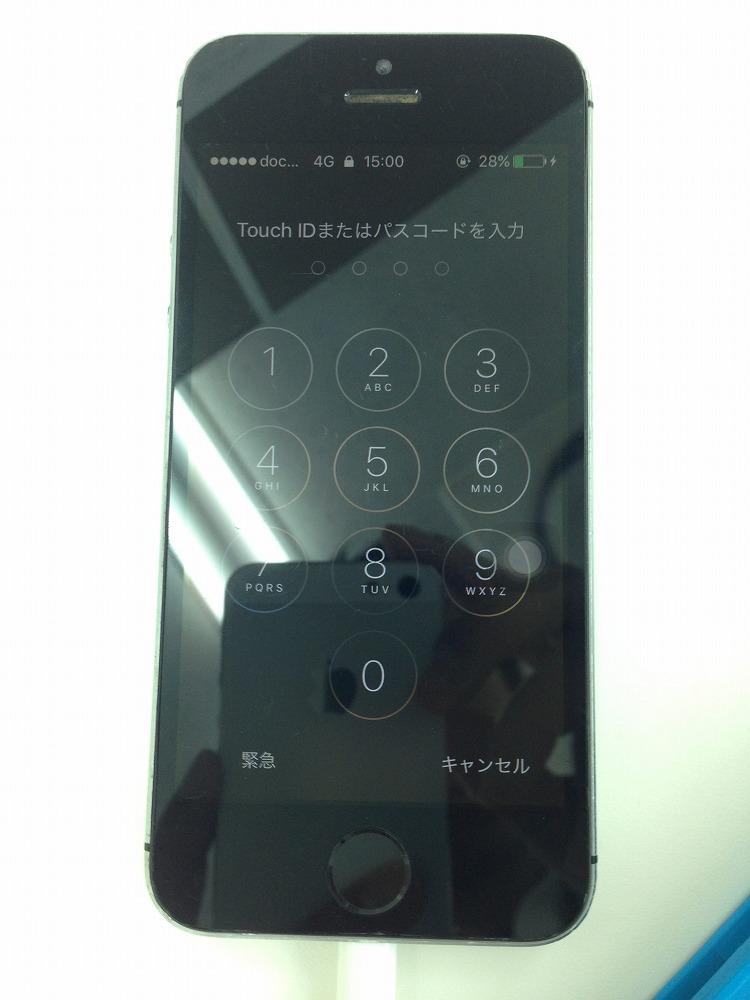 iPhone5sバッテリー交換後
