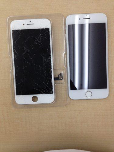 iPhone7画面交換ビフォーアフター