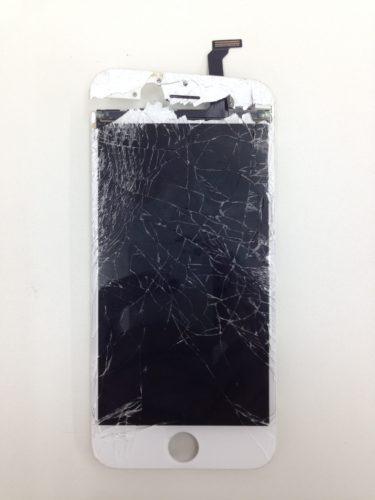 iPhone6ガラスバリバリ
