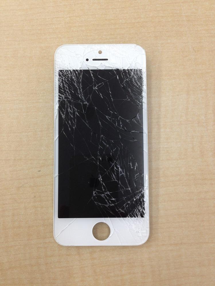 iPhone5s画面バリバリ