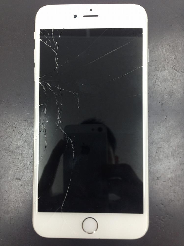 iPhone6Plusガラスバリバリ