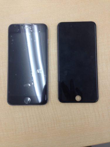 iPhone6Plus画面交換ビフォーアフター