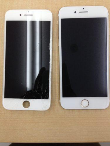 iPhone6液晶交換ビフォーアフター