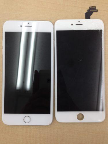 iPhone6sPlus画面修理ビフォーアフター