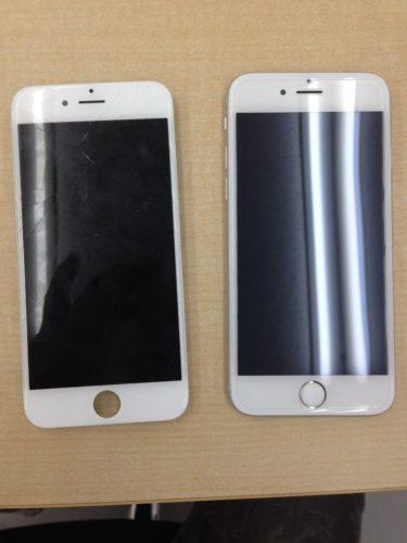 iPhone6sガラス交換ビフォーアフター