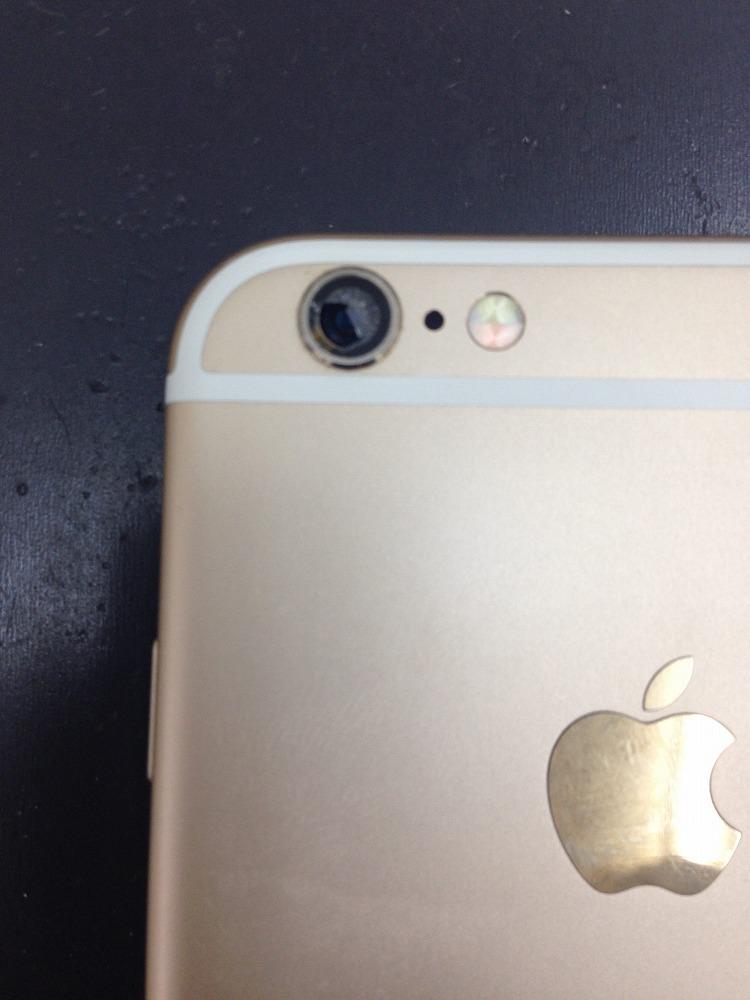 iPhoneカメラレンズ割れた