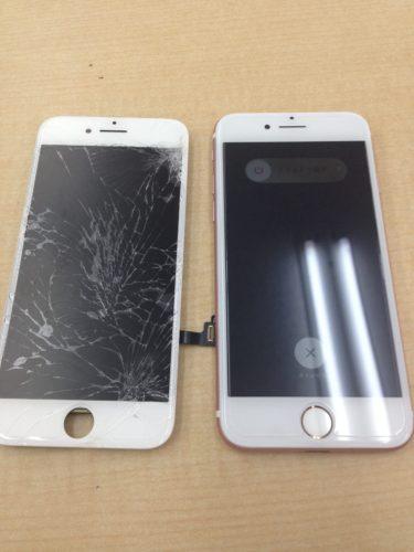 iPhone7液晶交換ビフォーアフター