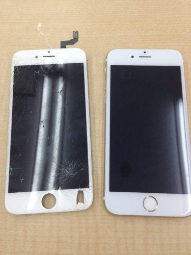 iPhone6s液晶交換ビフォーアフター