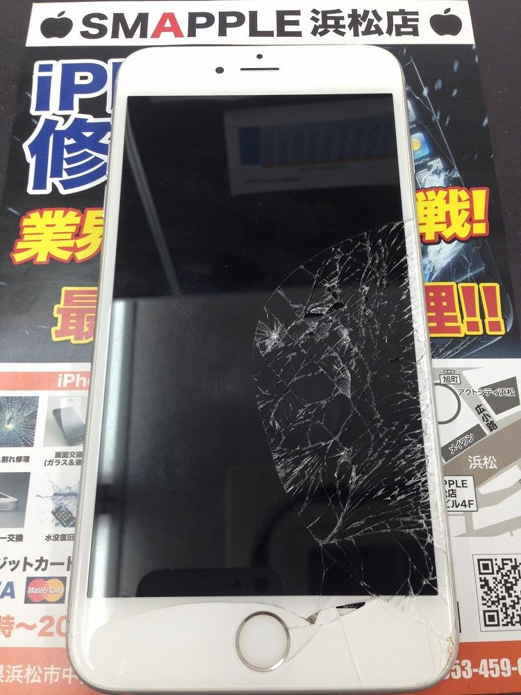 iPhone6sPlus 画面割れ タッチ不良 修理前