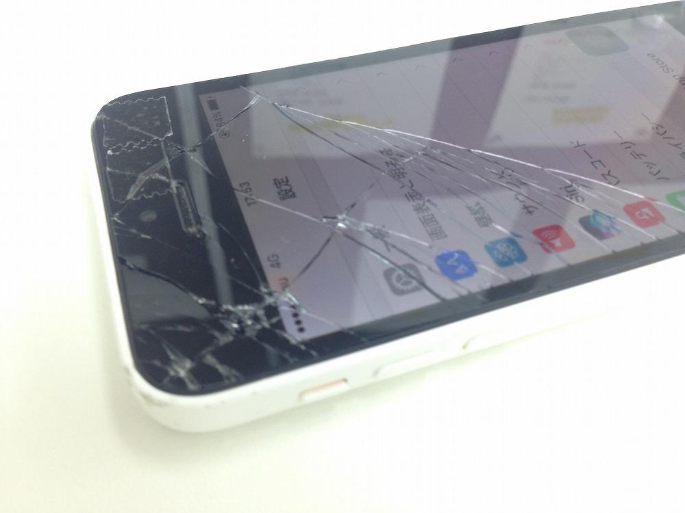 iPhone5cガラス割れ