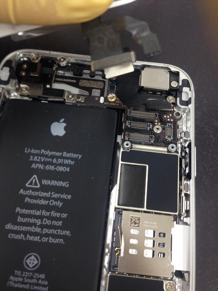 iPhone6画面修理模様