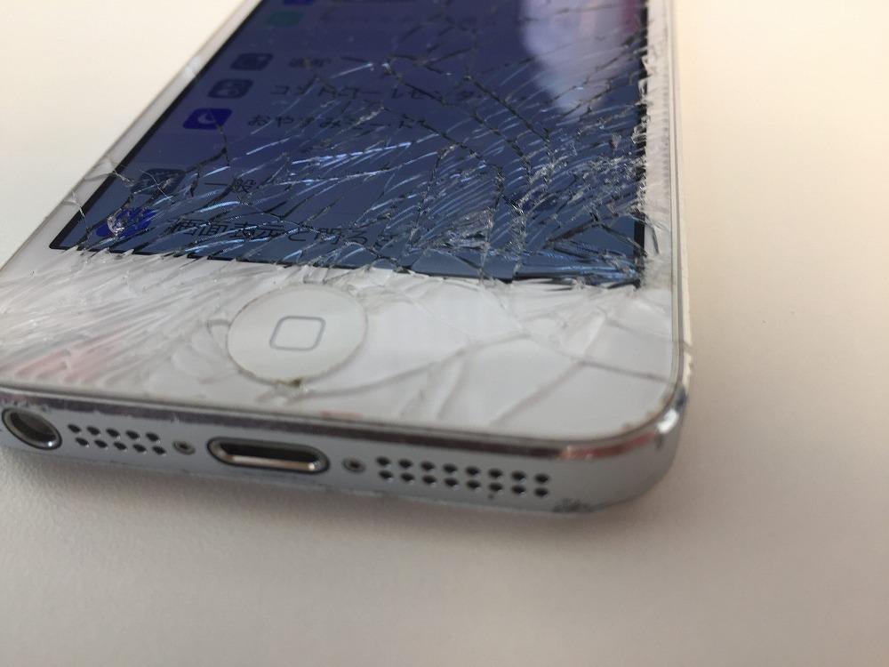 iPhone5画面バリバリ