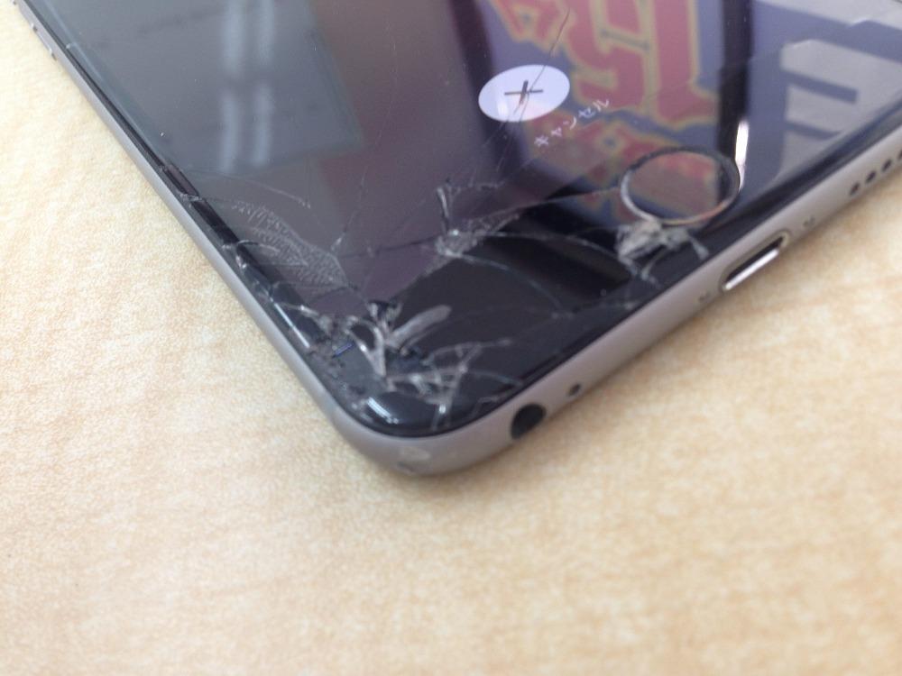 iPhone6角から落下