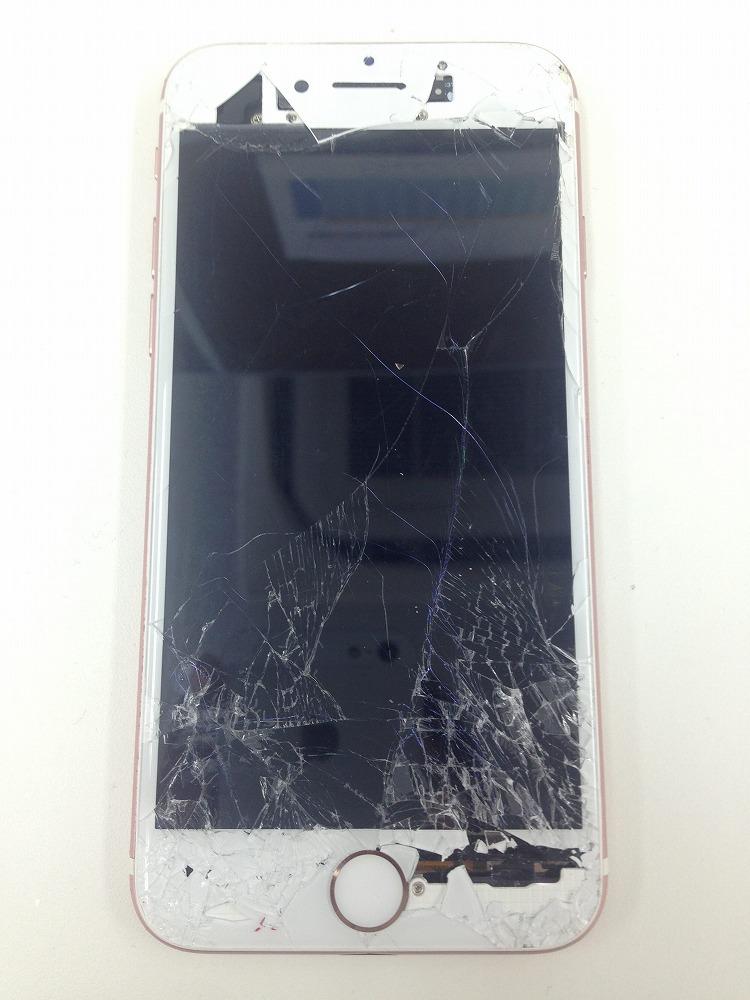 iPhone6s画面バッキバキ