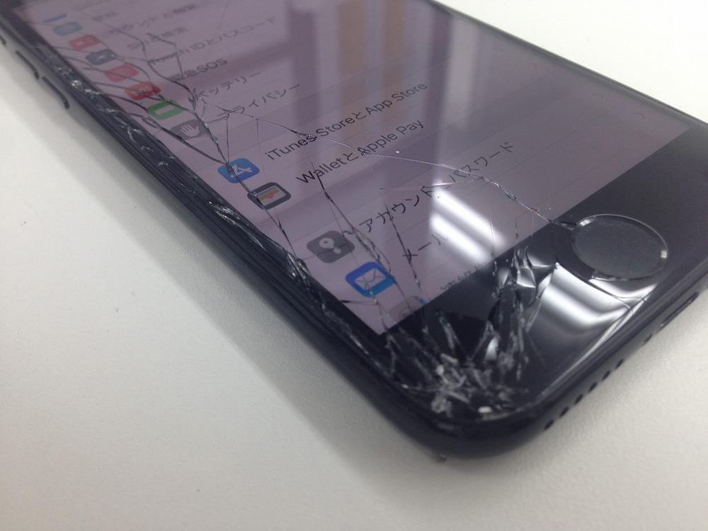 iPhone7 画面交換前 落下箇所