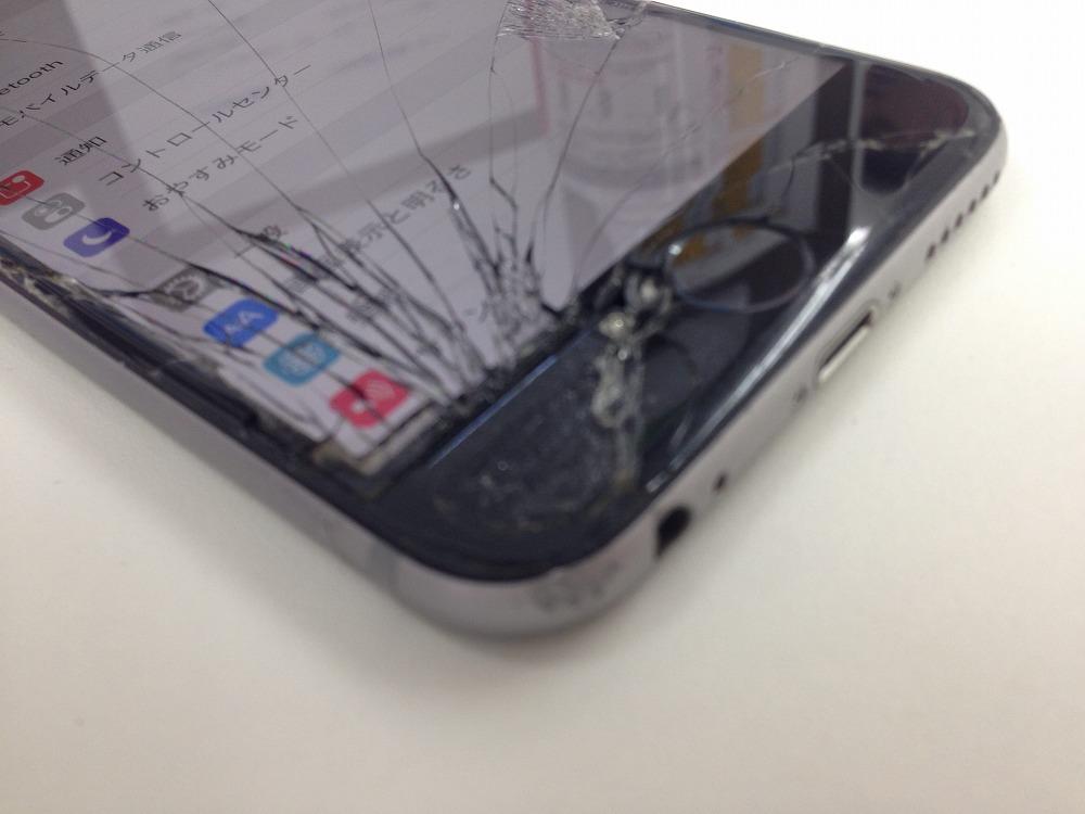 アイフォン6画面バリバリ