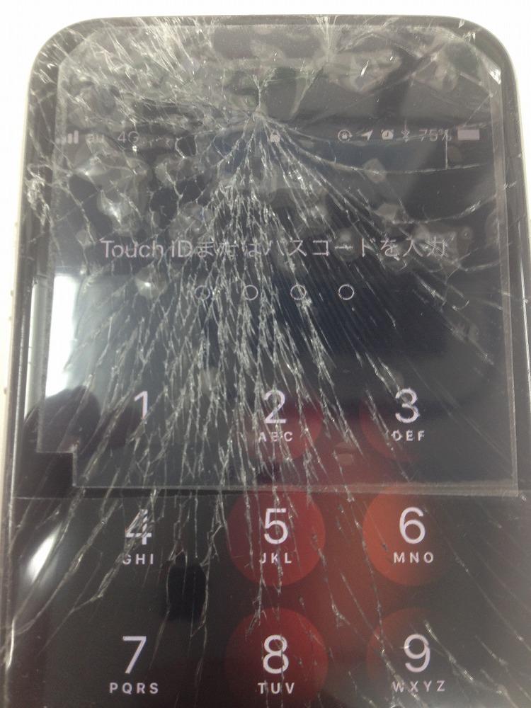 iPhone6画面バキバキ