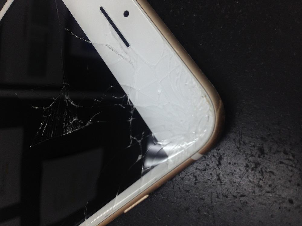 iPhone7Plus画面割れ修理前