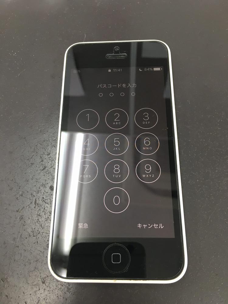 iPhone5c画面交換後