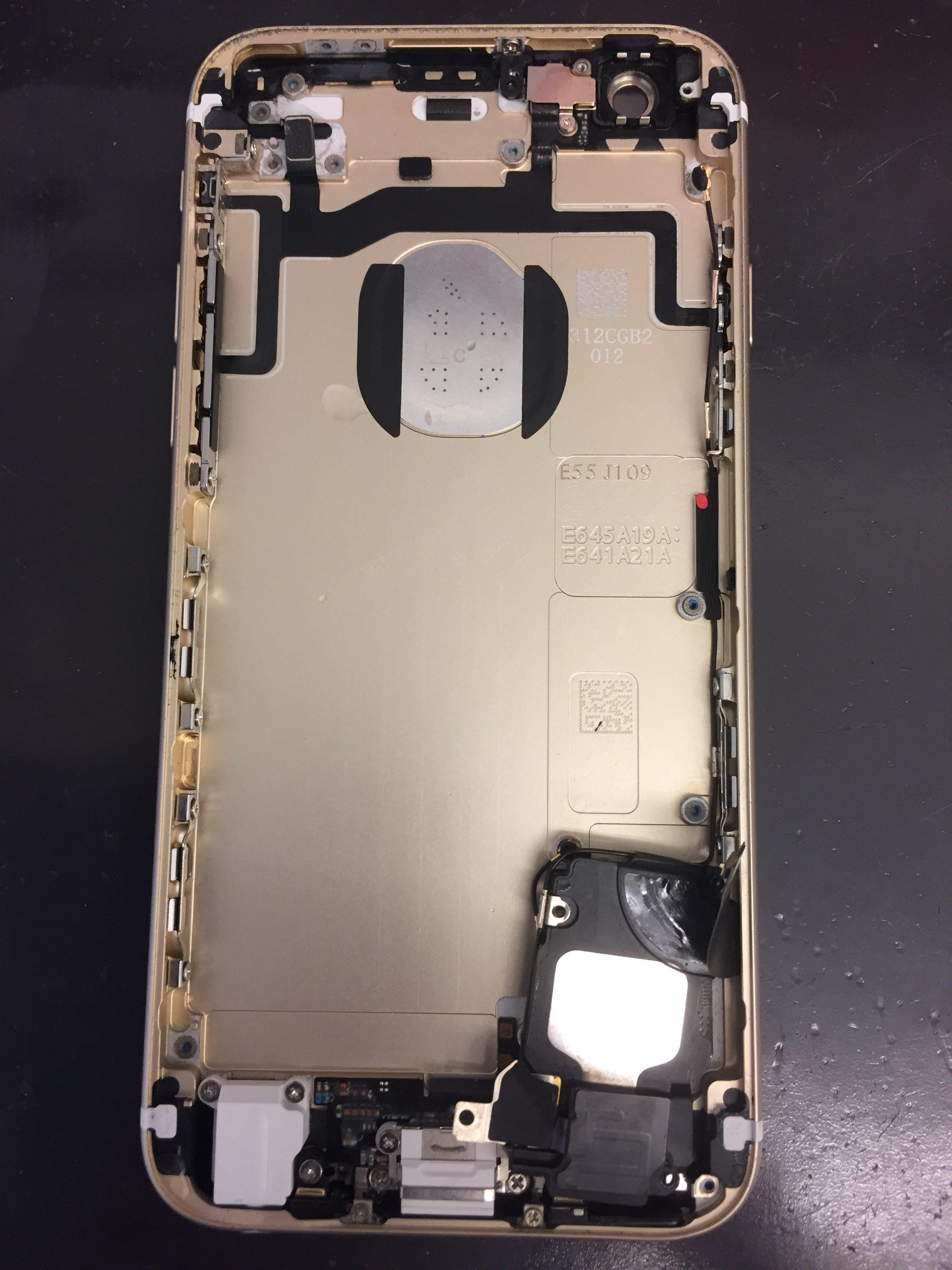 iPhone6s水没反応シール赤