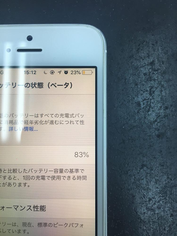 iPhoneSEバッテリー交換前2