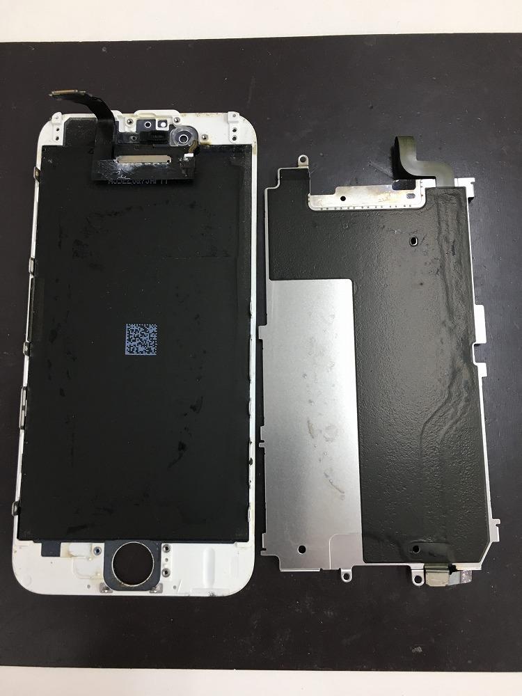 iPhone6水没内部プレートクリーニング