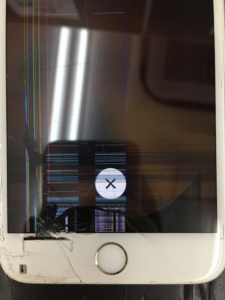 iPhone6液晶に縦線