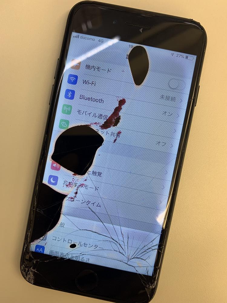 iPhone黒シミ修理 修理前