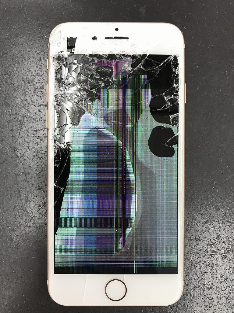 アイフォン8画面交換修理