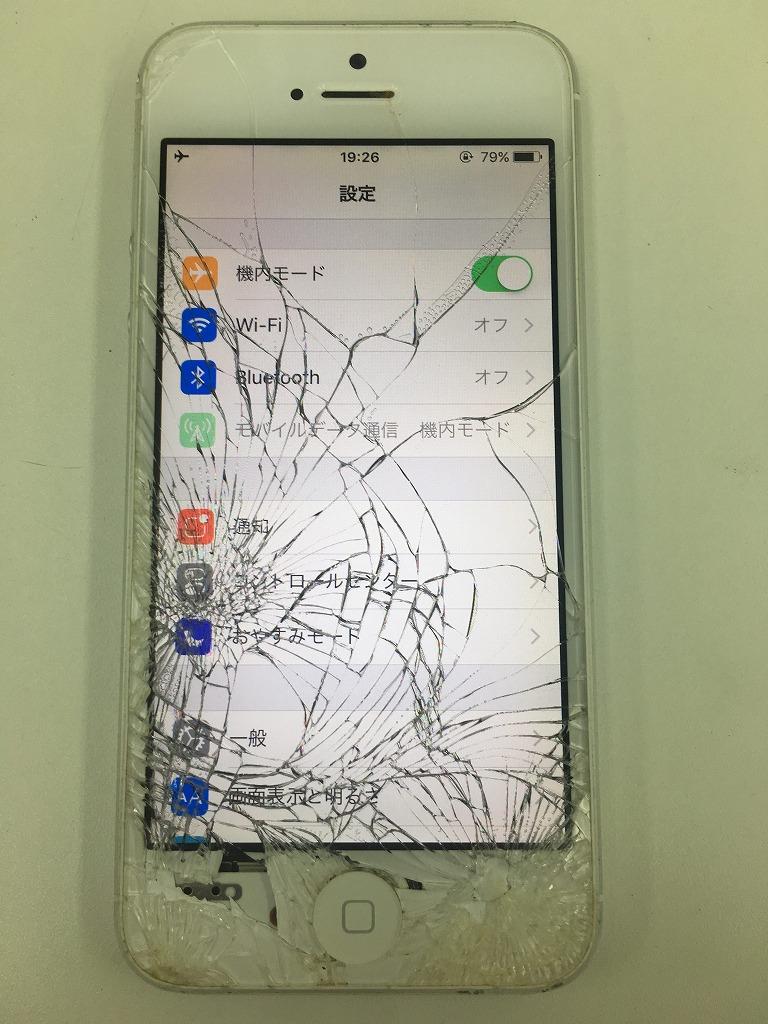 iPhone5画面破損