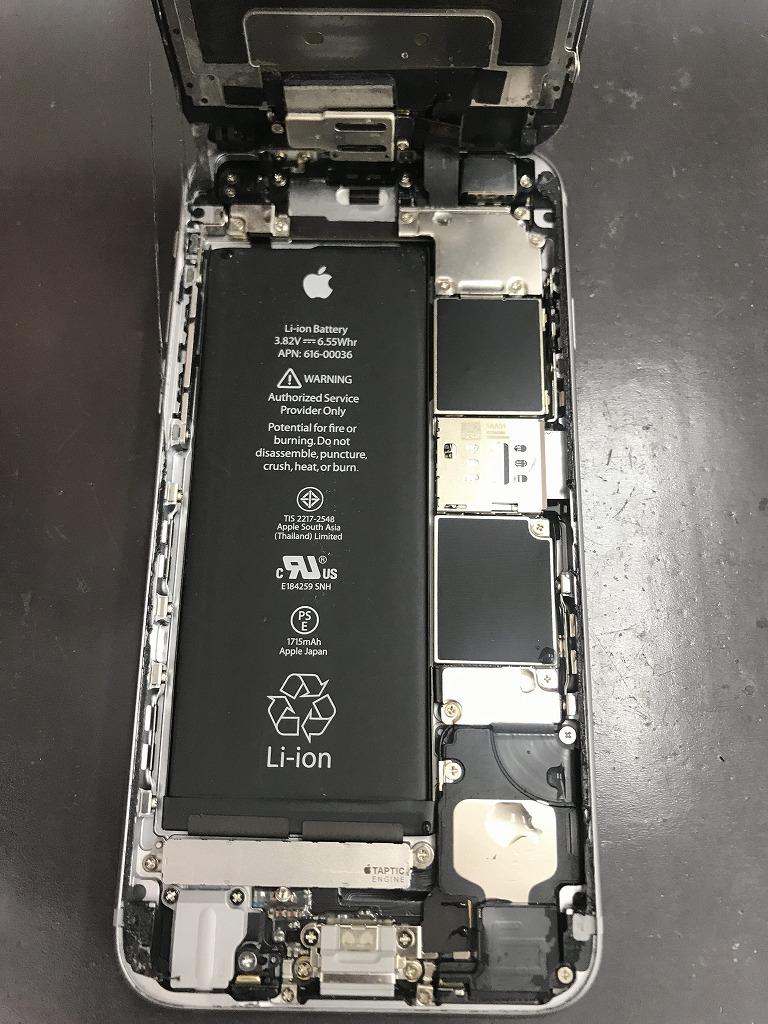 iPhone6s 水没内部