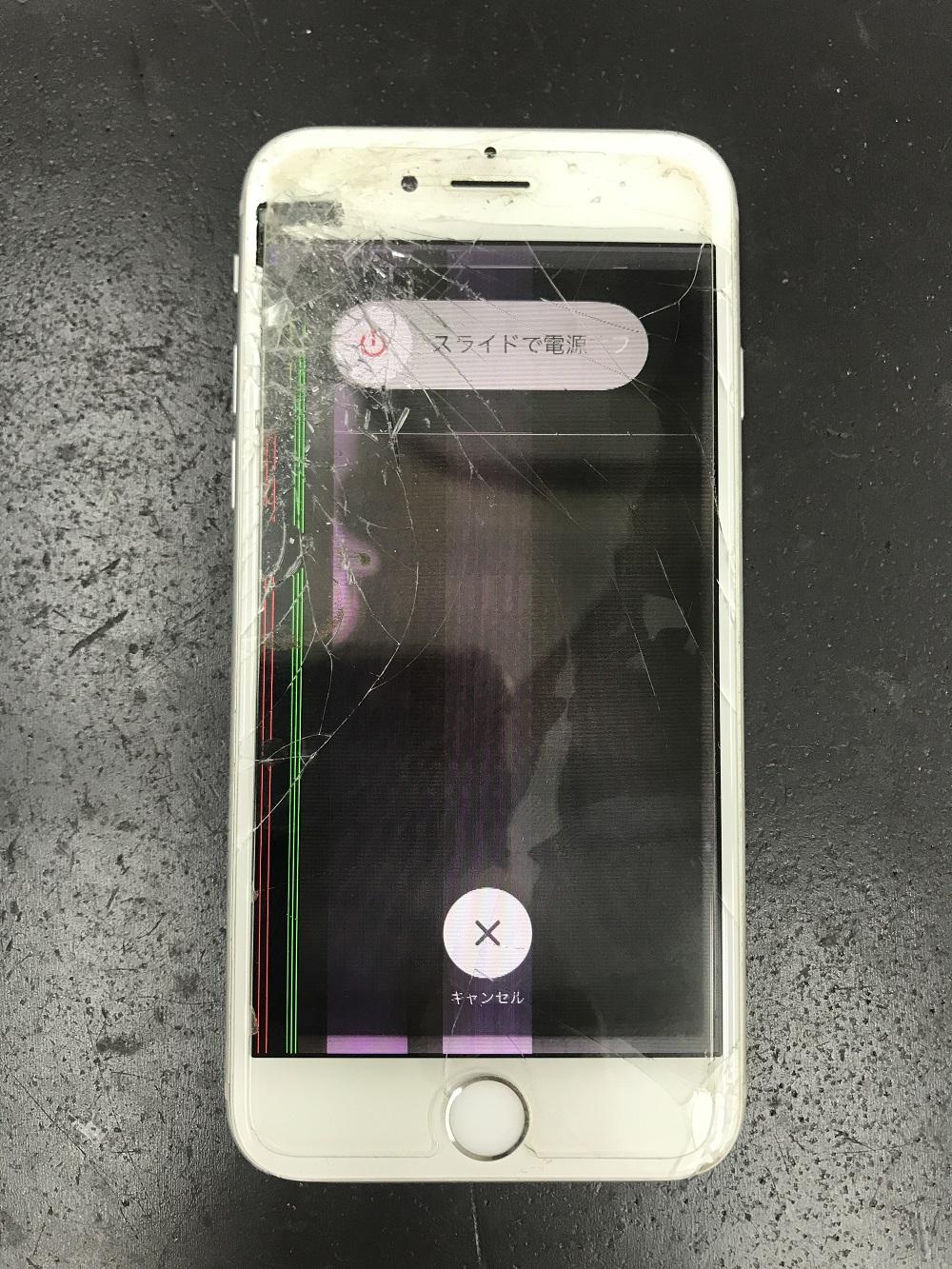 iPhone液晶破損画像