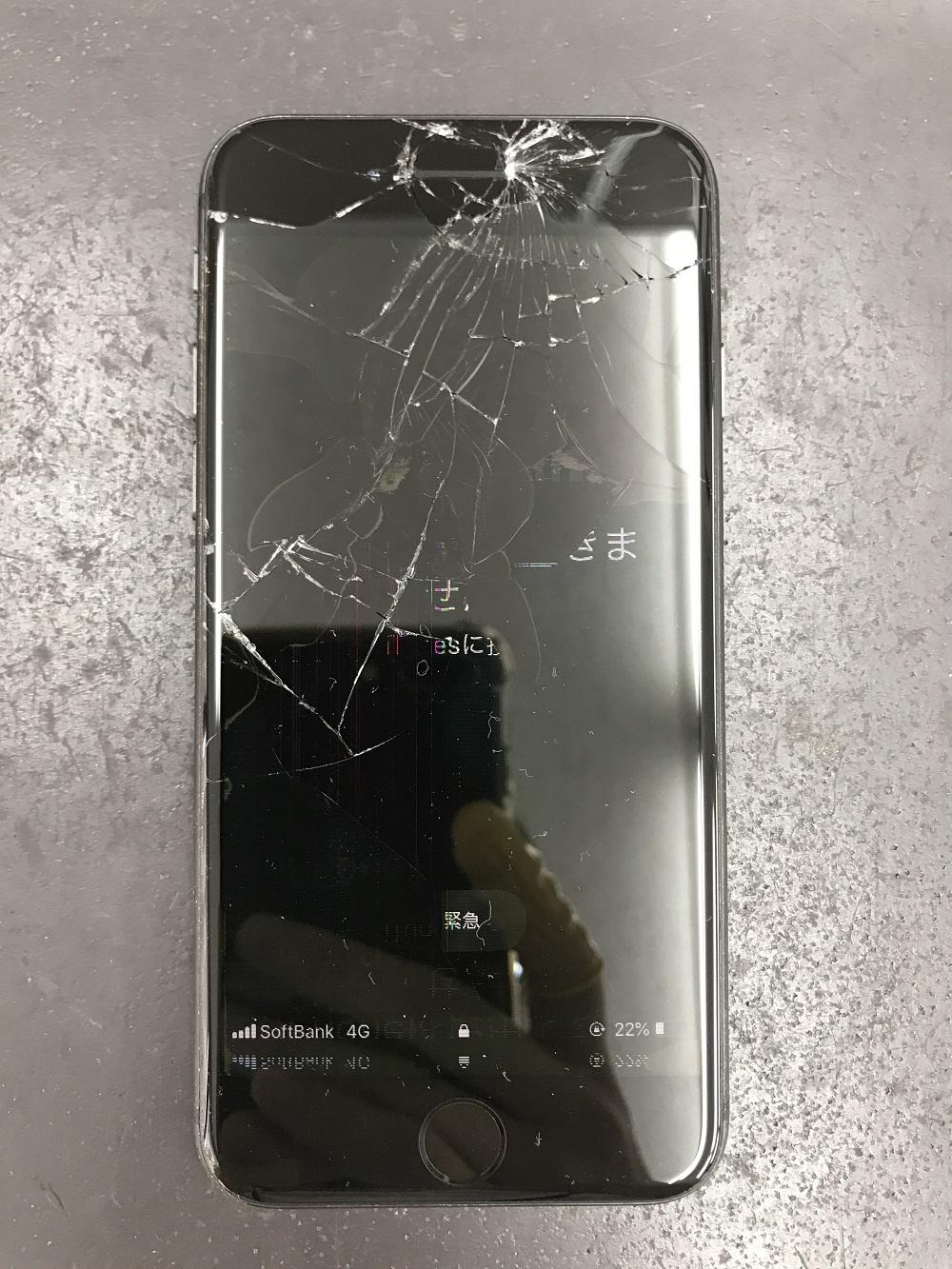 iPhone8画面交換前