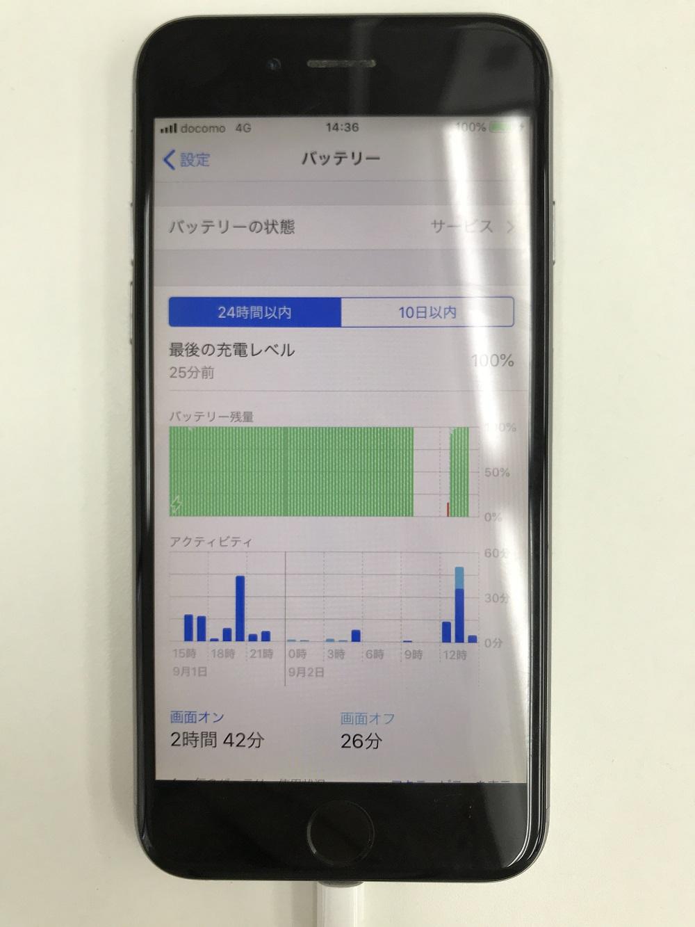 iPhoneバッテリー アクティビティ写真