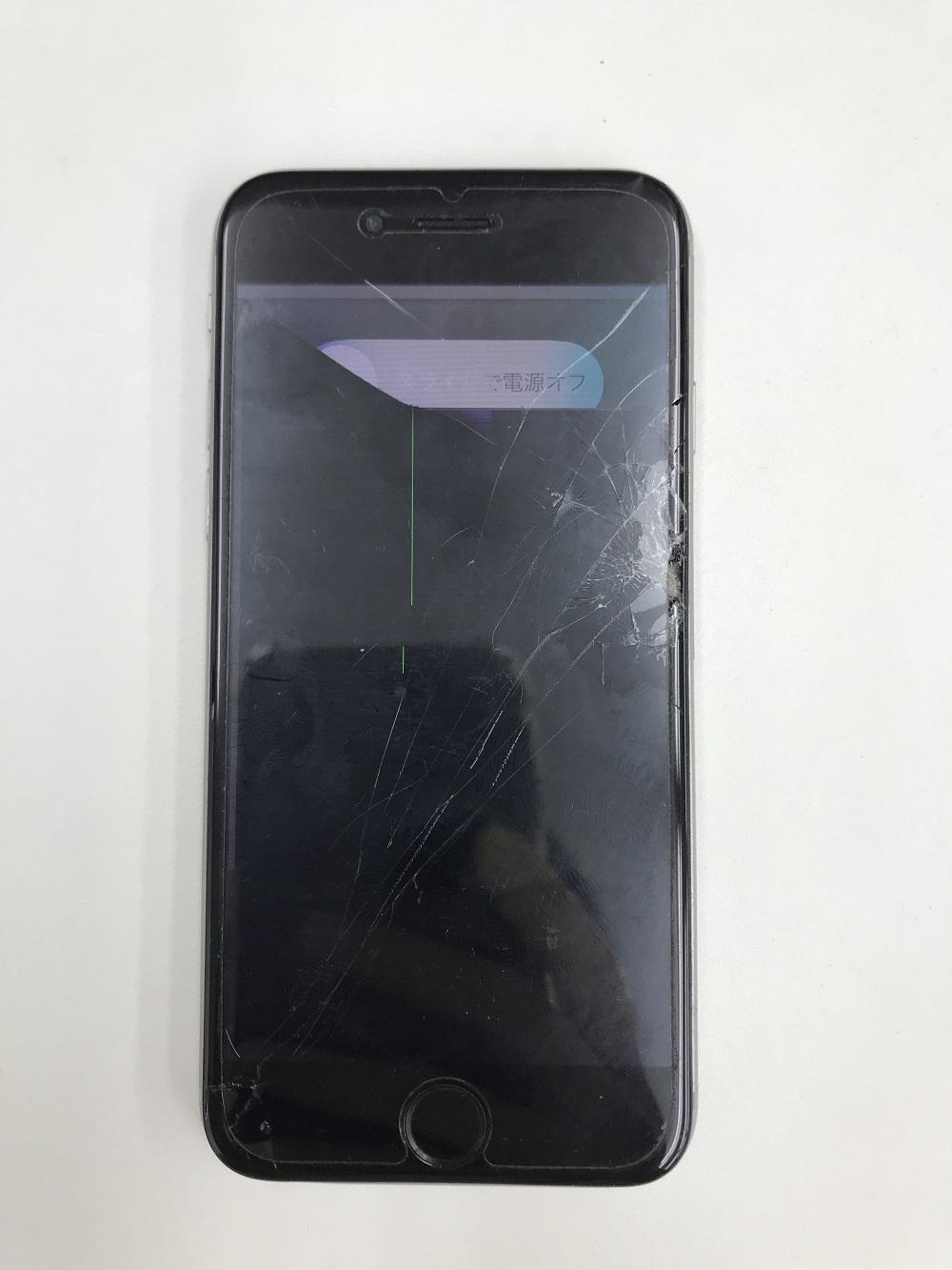 アイフォン6歪み修正+画面交換 修理前1