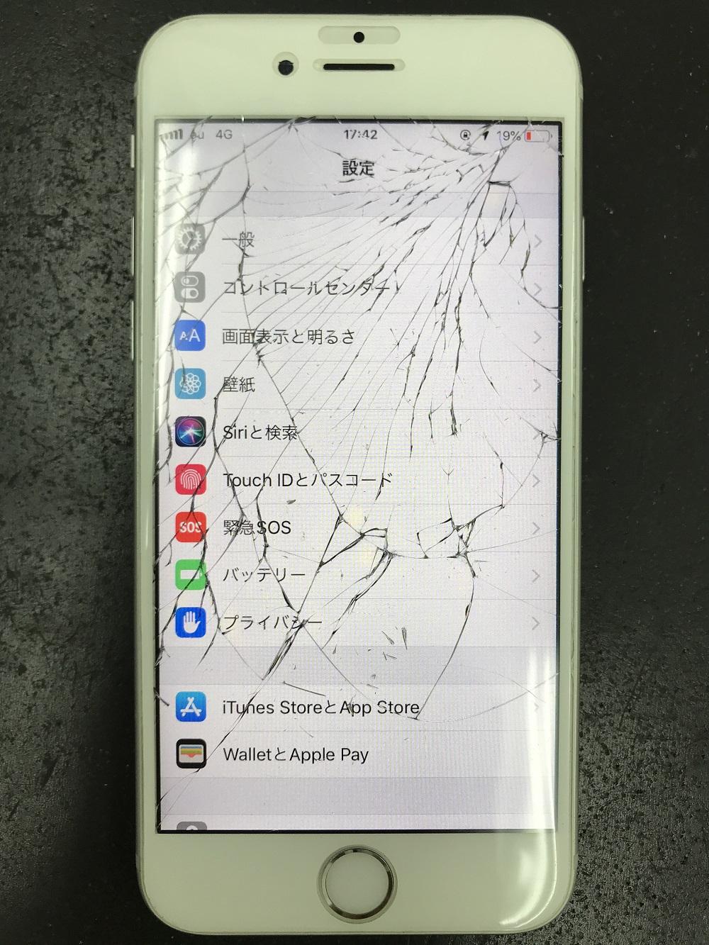 iPhone6s画面 修理前