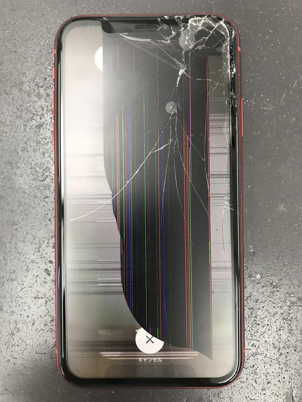iPhoneXR画面交換 交換前 写真1