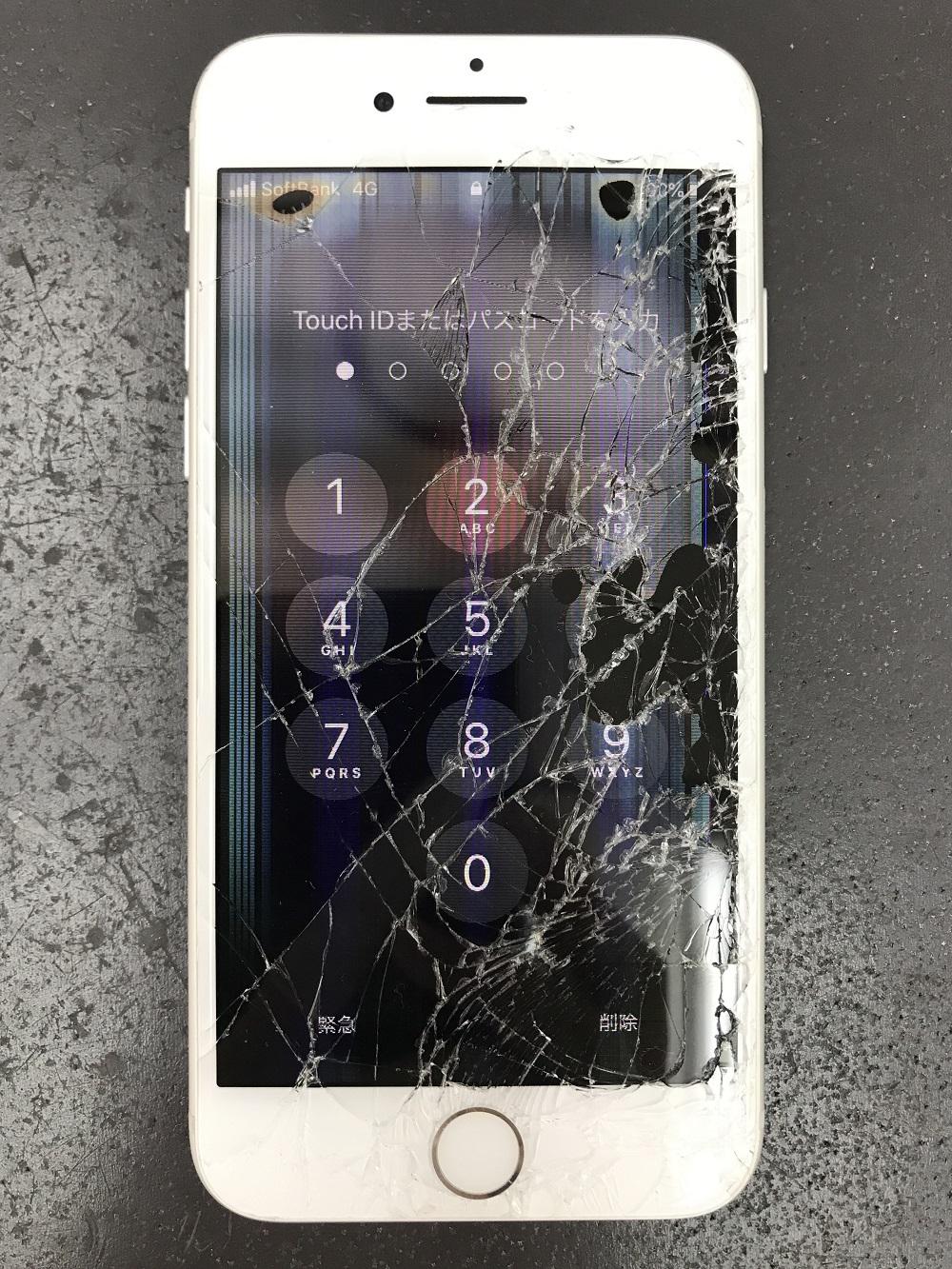 iPhone8画面交換 交換前 写真1
