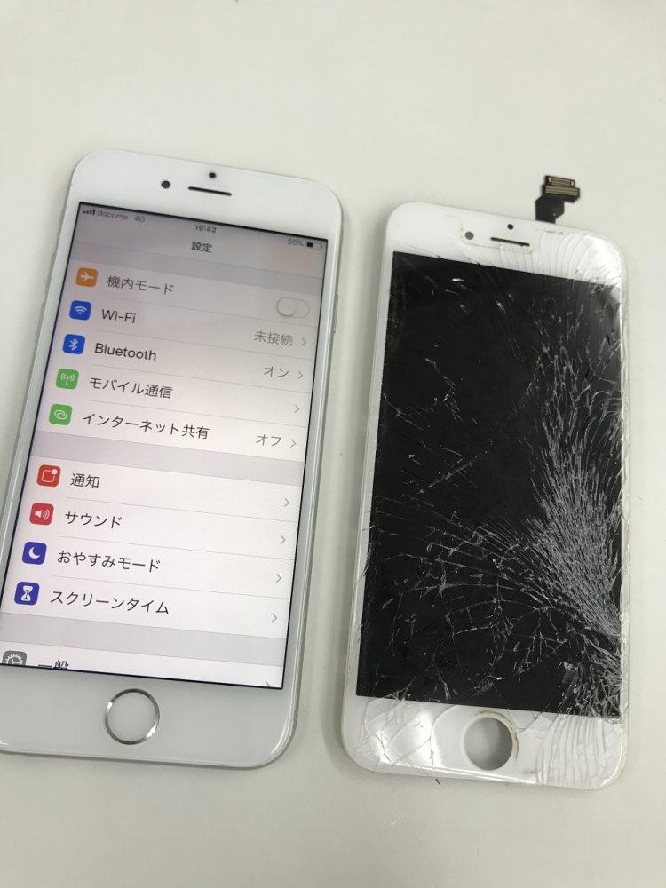 iPhone6 画面交換 修理後