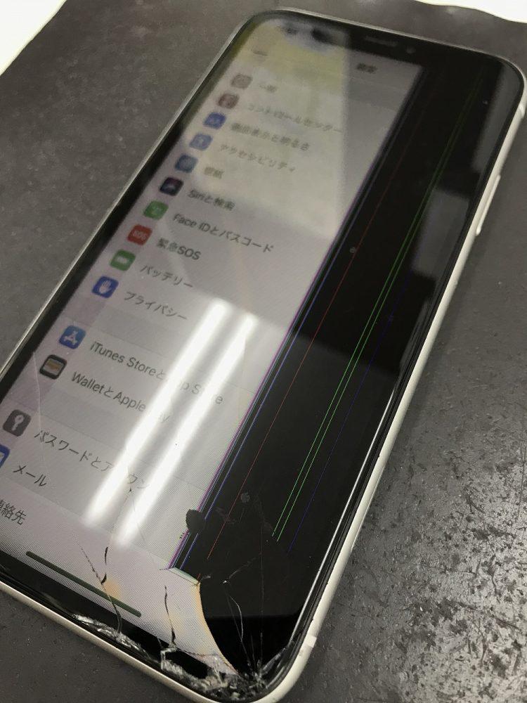 アイフォンXR画面交換 前