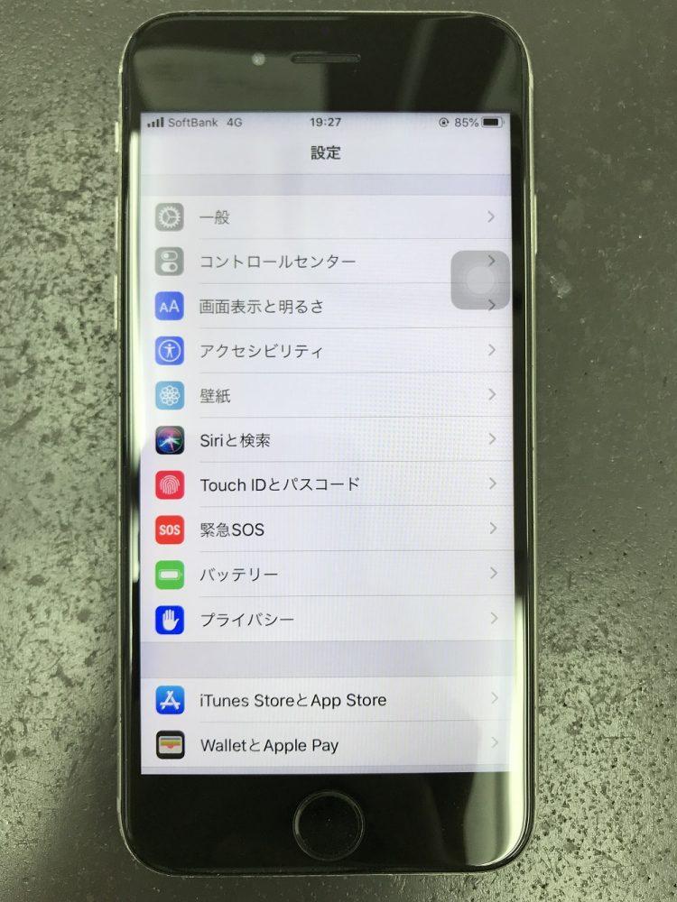 iPhone6s画面交換 交換後