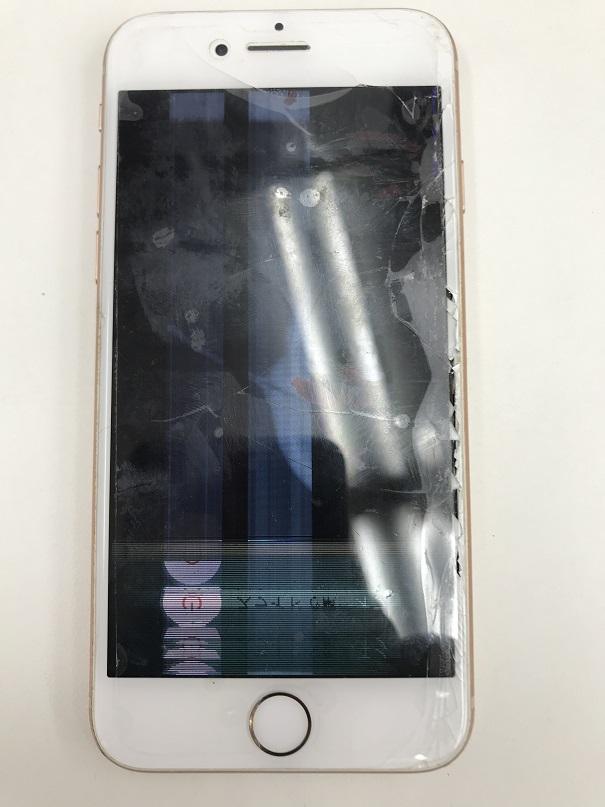 iPhone8液晶交換修理前