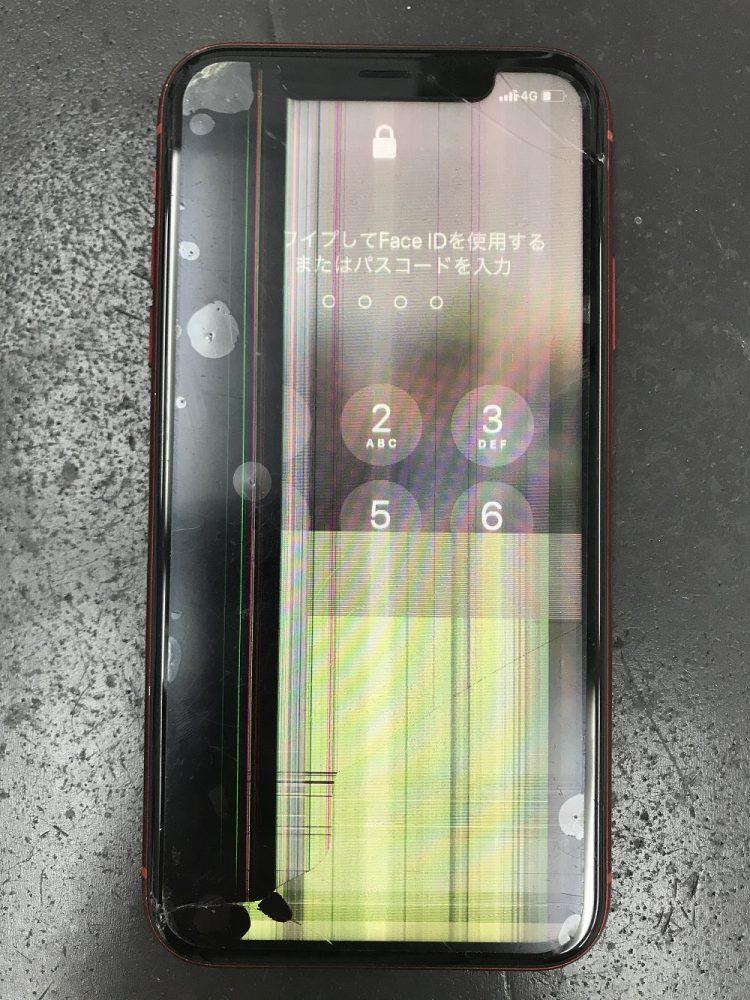 iPhoneXR画面交換 前