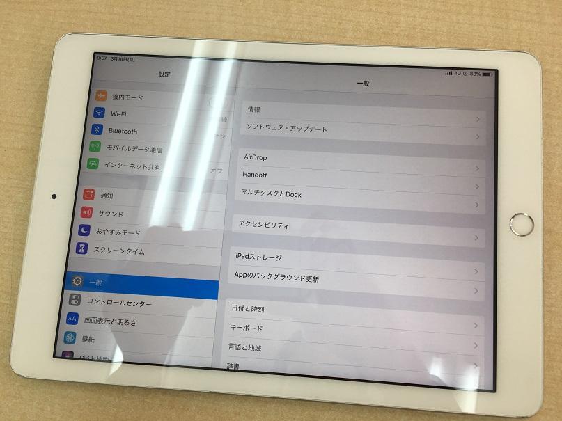 iPad第5世代ガラス割れ修理後