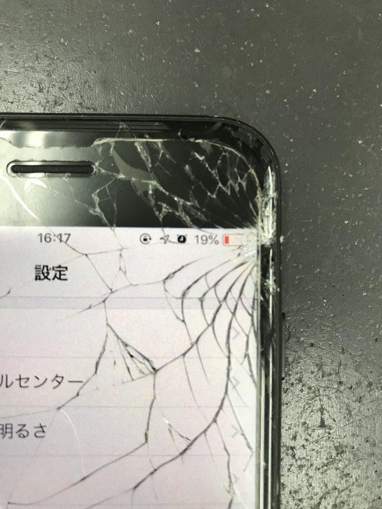 iPhone7画面交換修理 修理前