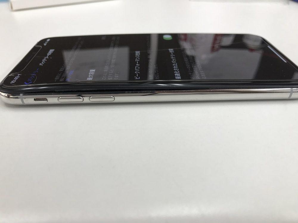 iPhoneX バッテリー劣化 バッテリー膨張 交換前