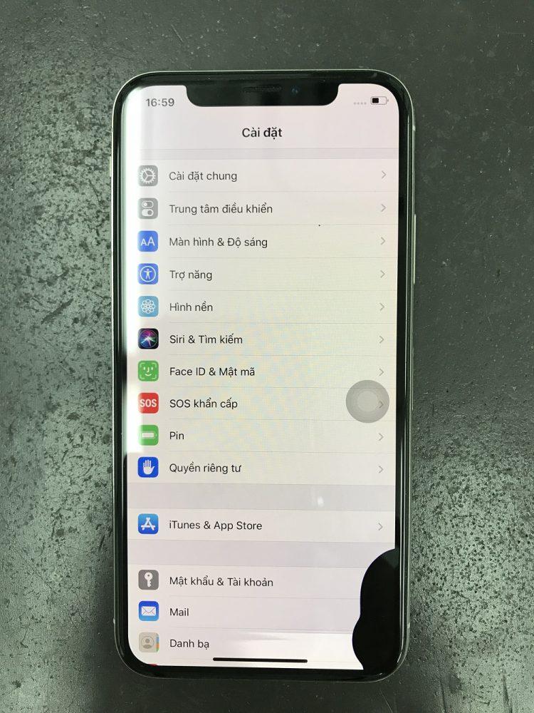 iPhoneX画面交換 修理前