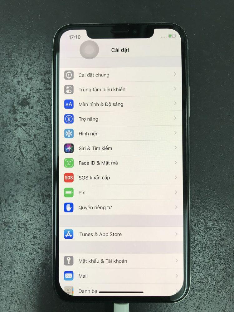 iPhoneX画面交換 修理後