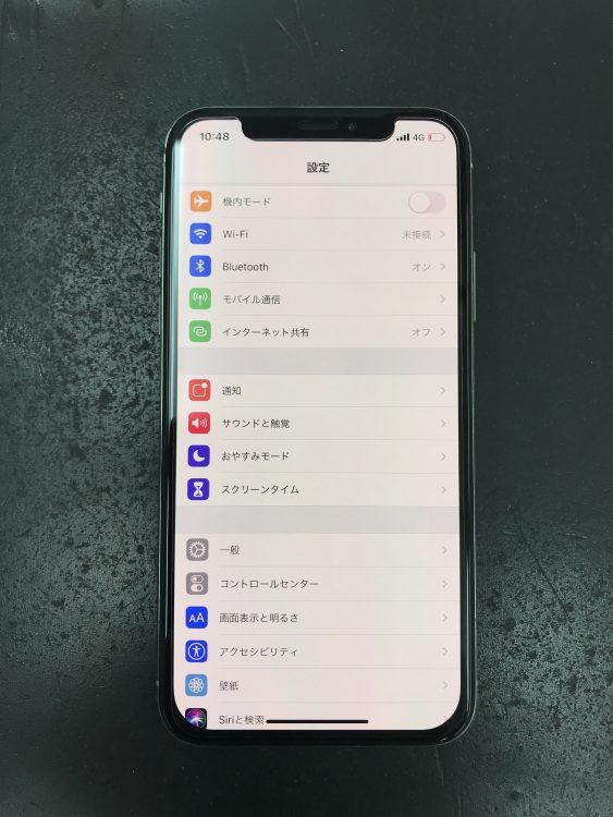 iPhoneX画面交換後